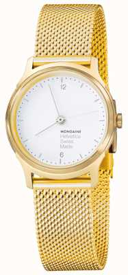 Mondaine Womens Gold Mesh PVD Plated MH1.L1111.SM