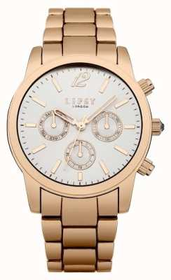 Lipsy Womens Rose Gold White Sunray Dial LP351
