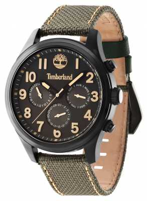 Timberland Rollins Green Leather Strap Black Dial 14477JSB/61