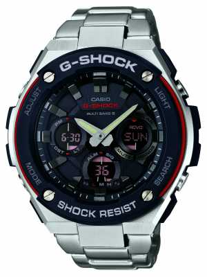 Casio Mens G-Shock, Radio Controlled, Black Dial GST-W100D-1A4ER
