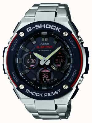 Casio Mens G-Shock, Radio Controlled, Black Dial GST-W100D-1A4ER