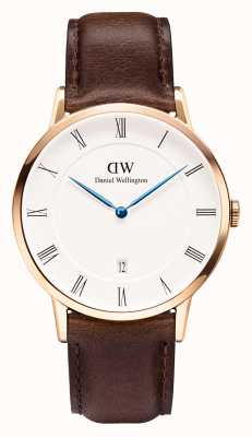 Daniel Wellington Mens Dapper 38mm Bristol Rose Gold Case DW00100086