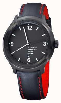 Mondaine Mens Helvetica NY Edition Black Leather Strap MH1.B1221.LB