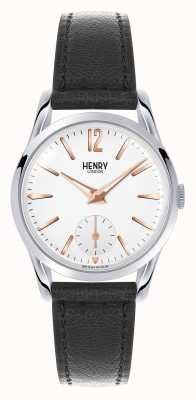 Henry London Highgate Black Leather Strap White Dial HL30-US-0001