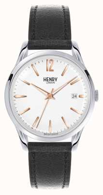 Henry London Highgate Black Leather Strap White Dial HL39-S-0005