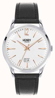 Henry London Highgate Brown Leather Strap White Dial HL41-JS-0067