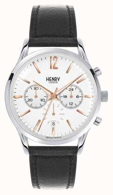 Henry London Highgate Black Leather Strap Chronograph HL41-CS-0011