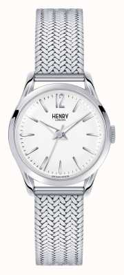 Henry London Edgware Stainless Steel Mesh White Dial HL25-M-0013