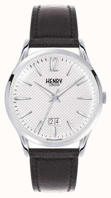 Henry London Edgware Brown Leather Strap White Dial HL41-JS-0021