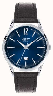 Henry London Knightsbridge Watch | Brown leather strap | HL41-JS-0035