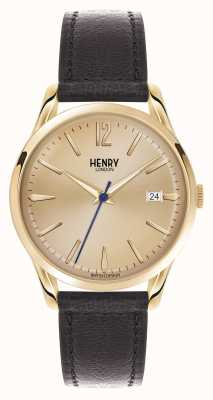 Henry London Westminster Brown Leather Strap Champagne HL39-S-0006