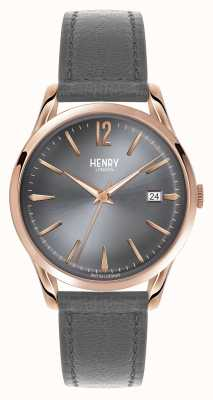 Henry London Finchley Grey Leather Strap Grey Dial HL39-S-0120