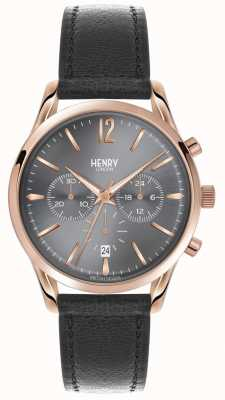 Henry London Finchley Grey Leather Strap Chronograph HL39-CS-0122