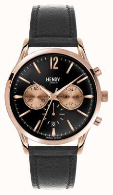 Henry London Richmond Black Leather Strap Chronograph HL41-CS-0042