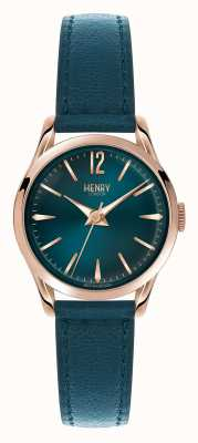 Henry London Stratford Blue Leather Strap Blue Dial HL25-S-0128