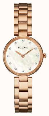 Bulova Ladies Rose Gold, Pearl Dial 97S111