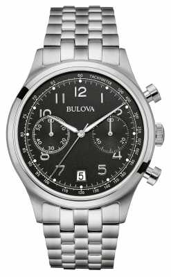 Bulova Mens Vintage Stainless Steel Chronograph 96B234