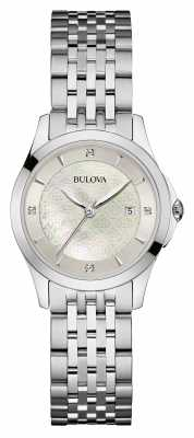 Bulova Womens Stainless Steel Silver Dial 96S160