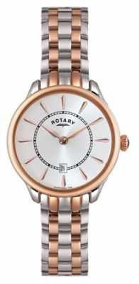 Rotary Ladies Rose Gold Two Tone Watch LB02917/02