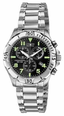 Citizen Eco-Drive Mens Chronograph 100M WR AT0750-55F
