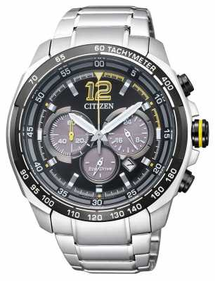 Citizen Mens Eco-Drive Aviator Tachymeter Chronograph CA4234-51E