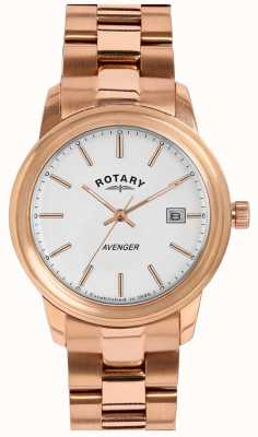 Rotary Ladies Rose Gold Avenger LB02739/06