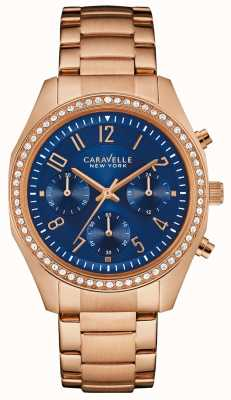 Caravelle New York Ladies Melissa Chronograph Watch 44L196