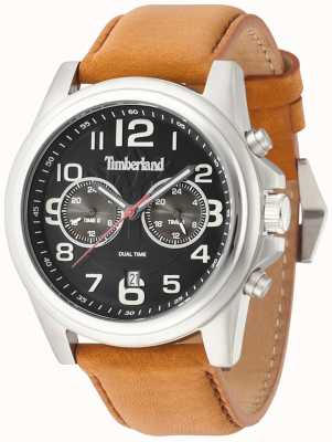 Timberland Gents Pickett Brown Leather Strap Watch 14518JS/02