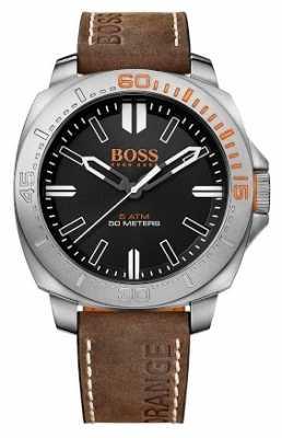 Hugo Boss Orange Gents Sao Paulo Brown Leather Strap Watch 1513294