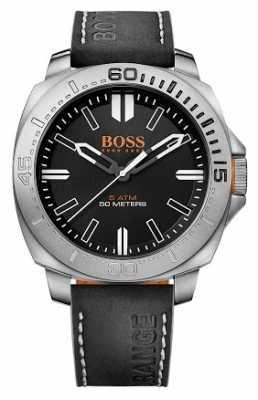 Hugo Boss Orange Gents Sao Paulo Black Leather Strap Watch 1513295