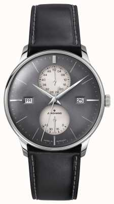 Junghans Meister Agenda (English Date) Black Leather Strap 027/4567.01