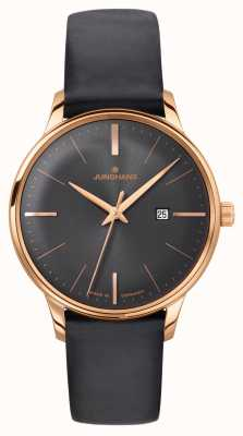 Junghans Meister Ladies Quartz Black Leather 047/7572.00