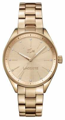 Lacoste Womens Philadelphia Rose Gold Plated 2000899