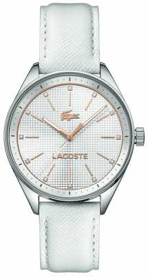 Lacoste Womens Philadelphia White Leather Strap 2000900