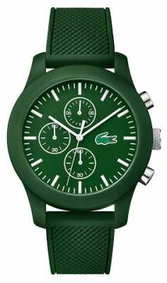 Lacoste Mens 12.12 Green Rubber Strap Chrono 2010822