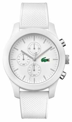 Lacoste Mens 12.12 White Rubber Strap Chrono 2010823