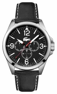 Lacoste Mens Montreal Black Leather Strap Chrono 2010804