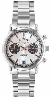Rotary Mens Avenger Brown Leather Strap Chrono GS02730/05