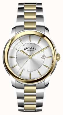 Rotary Mens Two Tone Stainless Steel Bracelet GB02771/06