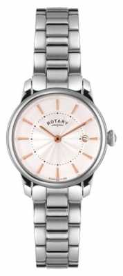 Rotary Womens Stainless Steel Bracelet White Dial LB02770/07