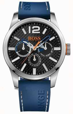 Hugo Boss Orange Mens Paris Blue Rubber Strap Black Dial 1513250