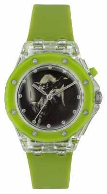 Star Wars Childrens Yoda Light Up Green Watch YOD3702