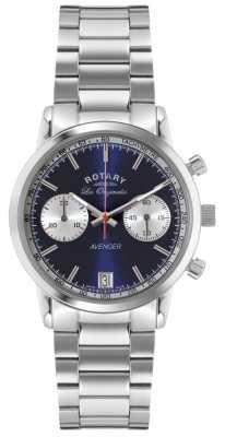 Rotary Mens Avenger Stainless Steel Blue Dial GB90130/05