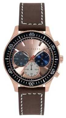 Ted Baker Mens Brown Leather Strap Chronograph TE1125