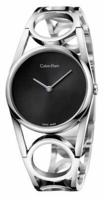 Calvin Klein Womens Round Stainless Steel Black Dial K5U2M141