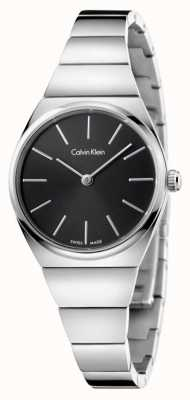 Calvin Klein Womens Supreme Stainless Steel Black Dial K6C23141