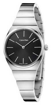 Calvin Klein Womens Supreme Stainless Steel Black Dial K6C23141