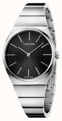 Calvin Klein Womens Supreme Stainless Steel Black Dial K6C2X141