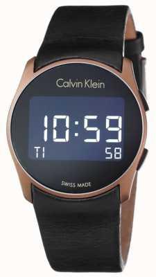 Calvin Klein Unisex Future Digital Black Leather Strap K5B13YC1