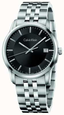 Calvin Klein Mens Infinite Stainless Steel Black Dial K5S31141